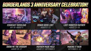 Borderlands 3 Adakan Event Ulang Tahun Pertama