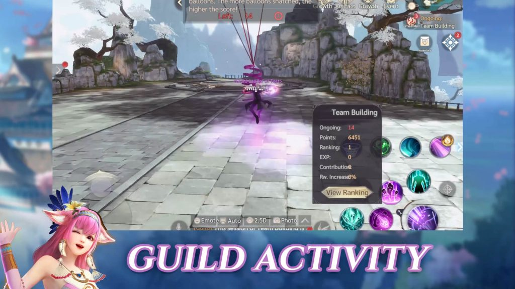 Perfect World Mobile Catch the baloon (Guild activity)