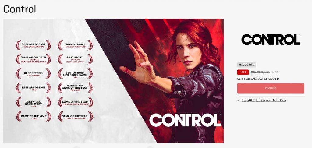 Control Gratis di Epic Games Store