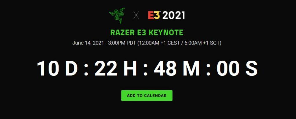 Razer juga akan hadir di acara E3 2021